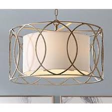 sausalito 25 wide silver gold pendant light troy drum lighting fixtures ls plus