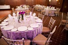 banquet centerpieces banquet decorations with lace overlay with purple satin