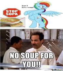 No Soup For You Meme - sorry rainbow but no soup for you by lamborghiniaventador670 meme