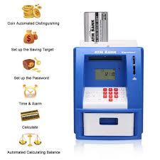 excelvan atm money bank box for kids smart atm saving amazon co
