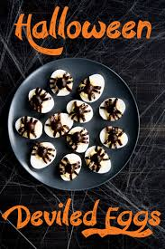 easy halloween appetizers recipes halloween deviled eggs recipe best deviled eggs a side of sweet