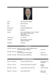 Format Resume Pdf Bahasa Melayu by Format Resume Bahasa Melayu Contegri Com