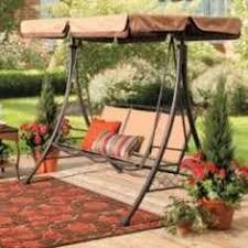 patio canopy swing hammock 3 person bench cushion flat bed garden