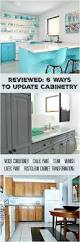 Update Kitchen Cabinets With Paint Cabinet Refinishing 101 Latex Paint Vs Stain Vs Rust Oleum