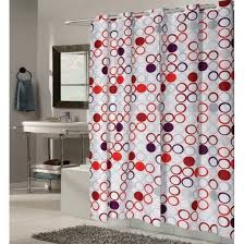 Colorful Fabric Shower Curtains Fabric Shower Curtains With Valance For Beautiful Bathrooms Nytexas