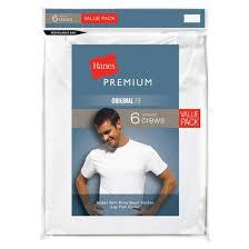Hanes Our Most Comfortable Hanes Premium Men U0027s 6pk Crew Neck T Shirt White Target
