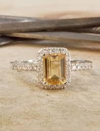 citrine engagement rings reserved sweet vintage floral side rectangle citrine ring