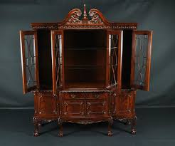 ball u0026 claw mahogany dining room china cabinet with gadroon
