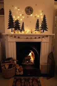 fireplace natural christmas decorations over fireplace design