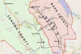 california map napa wine country map sonoma and napa valley