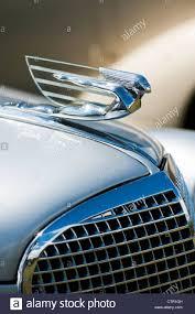cadillac v8 ornament classic american car stock photo