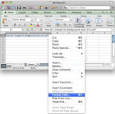 ms excel 2011 for mac change the background color of a cell