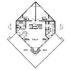 contemporary style house plan 3 beds 1 00 baths 1296 sq ft plan
