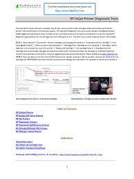 hp printer diagnostics v18 pdf printer computing office work