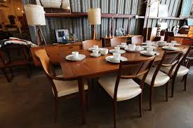 drexel parallel walnut dining table