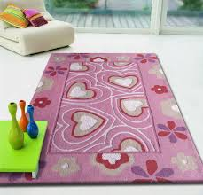 furniture awesome hearts pink children u0027s area rug spark of color