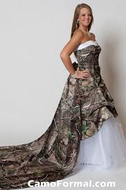 camo dresses for weddings shown with optional purchased roses detachable cameo wedding