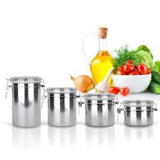 popular food canisters buy cheap food canisters lots from china kitchen stainless steel candy jar airtight sealed canister dry food container home tea caddy canister different