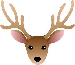 simple clipart deer pencil and in color simple clipart deer
