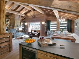 mesmerizing mountain cabin in the french alps alps masculine i like what i can see of the kitchen