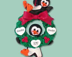 Black Bear Christmas Ornaments For Sale by Black Bear Family Of 5 In Sled Handmade Polymer Clay