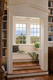 classical reading nook hideaway content in a cottage