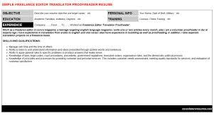 freelance editor translator proofreader cover letter u0026 resume