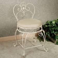 Vanity Chair For Bathroom by Aldabella Creamy Gold Upholstered Vanity Chair
