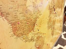 Walmart Map Push Pin World Map Vintage Colored Map From Target Com Cork
