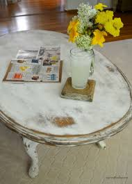 heavily distressed coffee table repurposed coffee table
