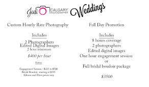 wedding photographers prices hourly rate wedding and day promotional packages jodi o