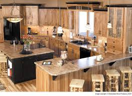 hickory kitchen island solid wood mobile home kitchen cabinets with granite top