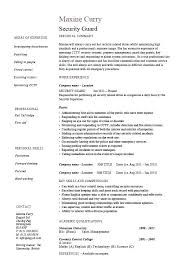 security officer resume here are sle security guard resume security guard sle