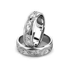 mens diamond wedding band 14kt white gold men s engraved diamond wedding band union diamond