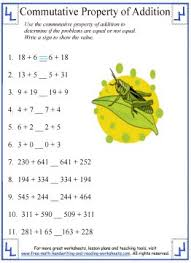 commutative property of addition worksheet 3 math pinterest