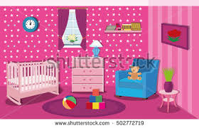 Nightstand Bookshelf Modern Teenage Room Stylish Interior Colored Stock Vector