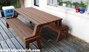 Folding Picnic Table Plans Folding Picnic Table Plans Howtospecialist How To Build Step