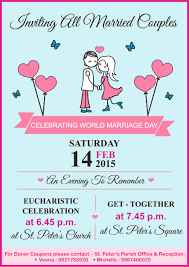 Family Day Invitation Card Marriage Day Celebration U2013 Organised By The Family Cellst Peter U0027s