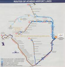 Metro Route Map by Map Of Airport Routes Metro U0026 Bus Athens Greece