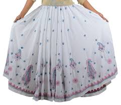 cotton skirt handembroidery chikankari cotton skirt