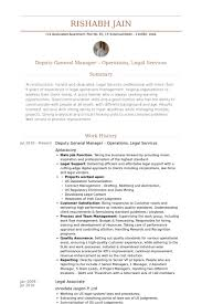 resume of manager operations deputy general manager resume samples visualcv resume samples