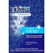 Dentist That Do Teeth Whitening Crest 3d White Classic Vivid Whitestrips Dental Whitening Kit 24