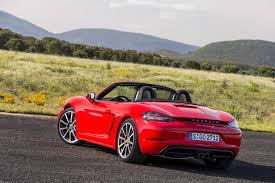 porsche boxster red cheaper and less powerful porsche 718 boxster cayman to launch in