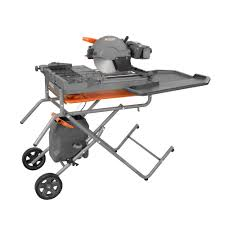 ridgid 10 in wet tile saw with stand r4091 the home depot
