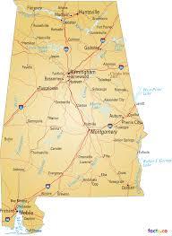 map usa alabama alabama map blank political alabama map with cities