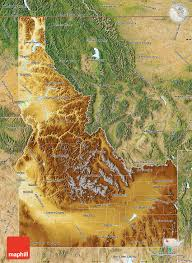 Map Of United States Physical Features by Physical Map Of Idaho Satellite Outside
