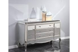 buffets camille mirrored buffet dresser in silver finish