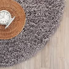 Grey Shaggy Rugs Chenille Grey Shag Rug 5 U0027 Round Free Shipping Today