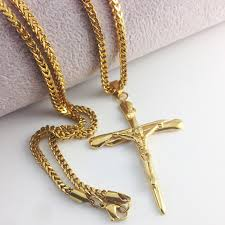 cross chain necklace gold images 59 mens gold chains and crosses mens gold cross ebay jpg