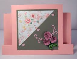 handmade quilling birthday card quilled flowers design
